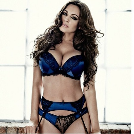 kelly brook - new look lingerie - christmas 2013 collection - handbag.com