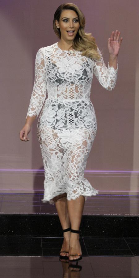 Kim Kardashian's sheer lace dress