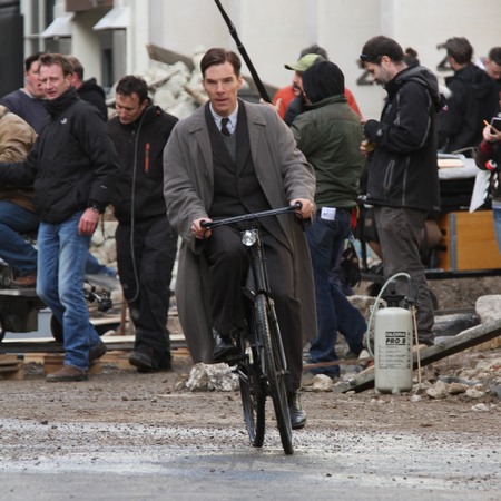 Benedict Cumberbatch - Alan Turing - The Imitation Game - filming - London