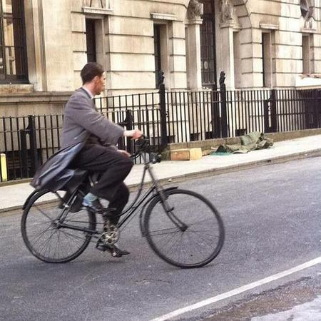 Benedict Cumberbatch - filming - london - alan turing - imitation game