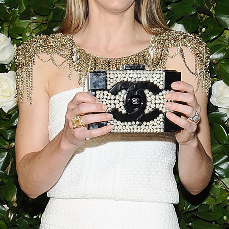 Jessica Biel - chanel lego clutch - museum of modern art benefit - handbag.com