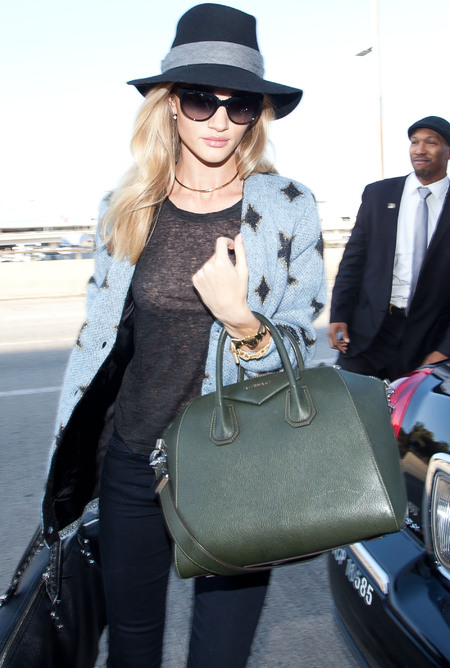 Rosie Huntington-Whiteley's handbag collection