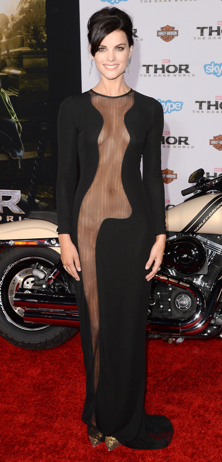 Jaime Alexander's sheer dress