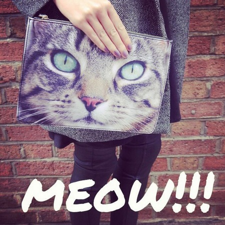 New Look cat face clutch bag - new look instagram account - follow friday twitter and instagram - handbag.com