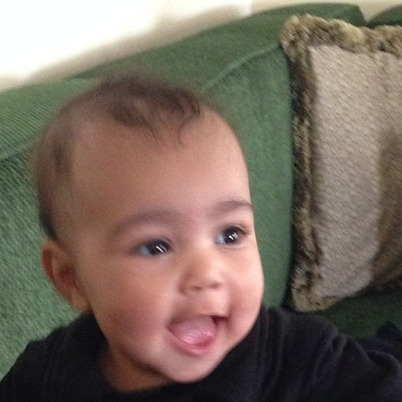 North West - kim kardashian instagram - baby photo