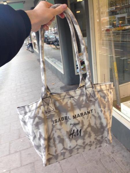 Isabel marant for H&M shopping bag - designer high street collaboration - november 2013 - handbag.com
