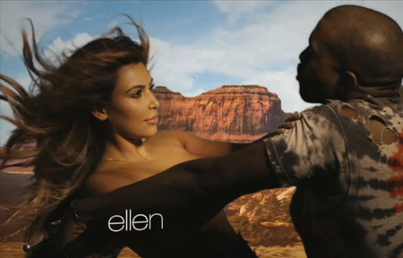 Kim Kardashian and Kanye West - Bound 2 music video - celebrity news - handbagcom