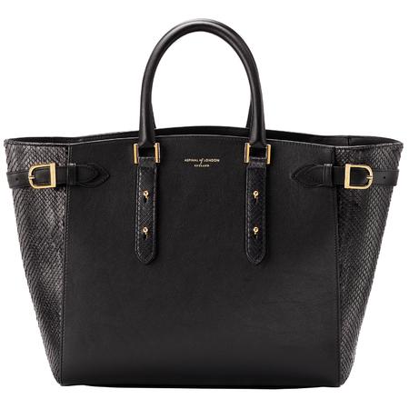 aspinal marylebone handbag - black leather handbag - christmas gift ideas - handbag.com