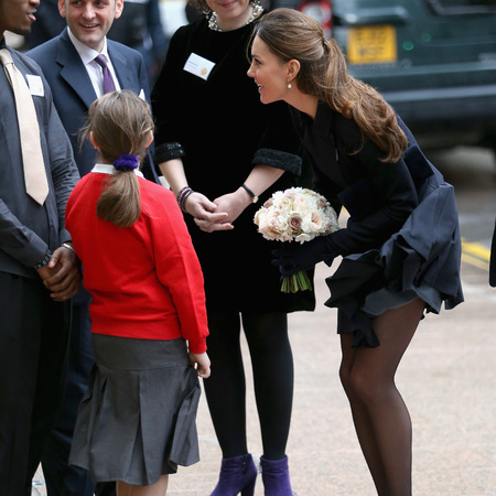 Kate Middleton skirt blowing up in the wind - fashion - handbag.com