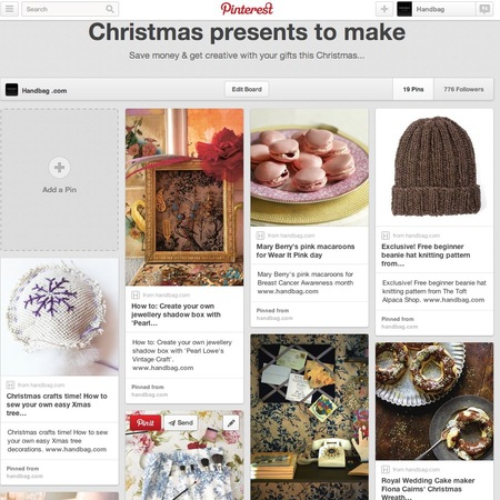 Pinterest board - christmas presents to make - Christmas present ideas - handbag.com