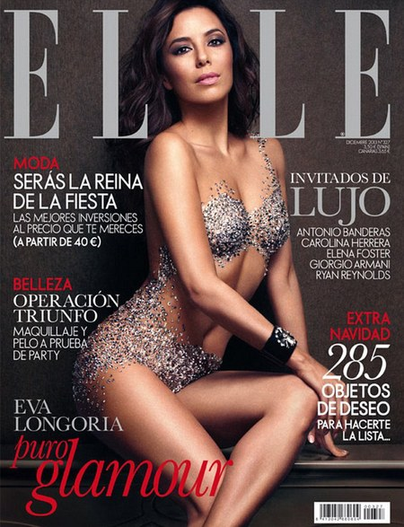 Eva Longoria crystal naked shoot - celebrity style fashion - Nearly naked catsuit trend - handbagcom