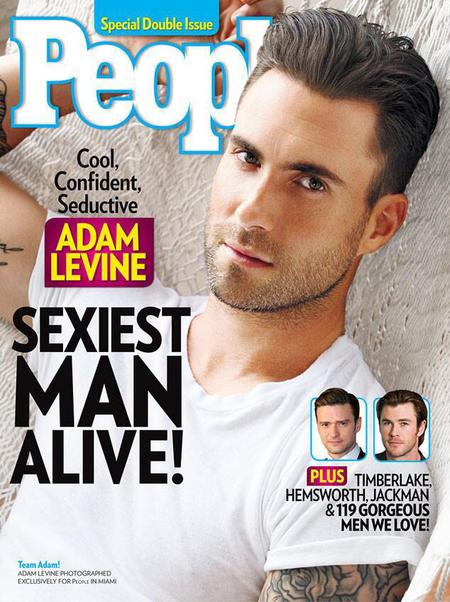 Adam Levine People Magazines Sexiest man alive - celebrity news - handbagcom