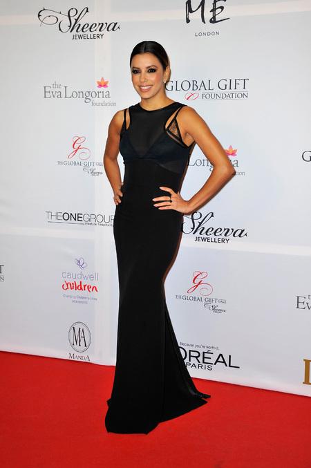 Eva Longoria's sheer dress