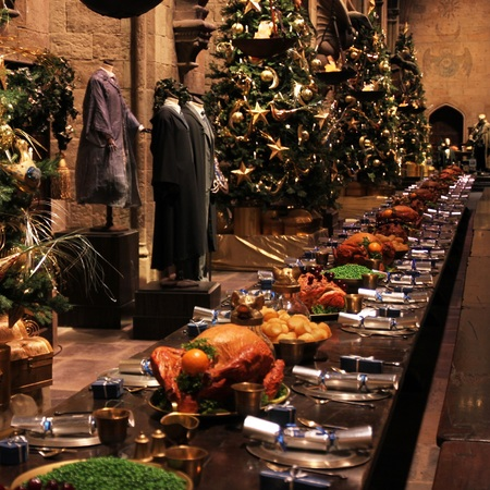 Hogwarts in the snow - warner bros studio - harry potter - christmas days out for adults and children - banquet hall - handbag.com
