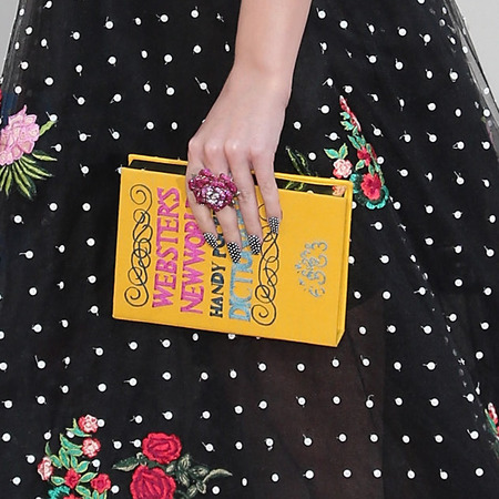 katy perry - big floral dress - book clutch bag - American Music Awards 2013 AMAs - handbag.com
