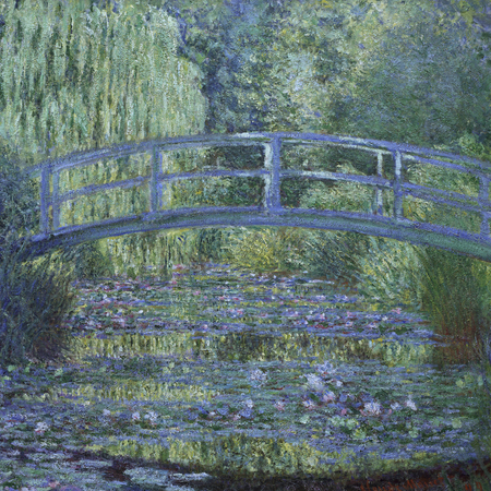 Monet Waterlilies - The Waterlily Pond Green Harmony 1899 - famous painter and artist - handbag.com