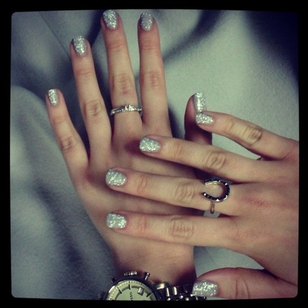 nails inc white snowflake effect - nail polish - white nails - christmas nail ideas - handbag.com