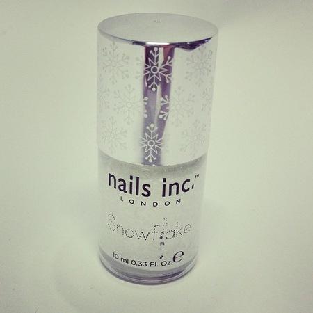 nails inc white snowflake - nail polish - white nails - christmas nail ideas - handbag.com