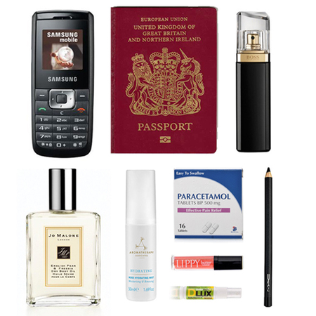 rebecca ferguson - what's in my handbag - ysl muse - hugo boss perfume - butter london - joe malone - handbag.com