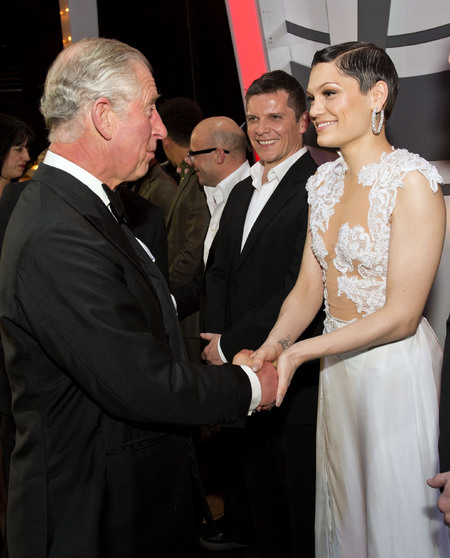 jessie j and prince charles - royal variety performance 2013 - celebrity sheer fashion trend - handbag.com