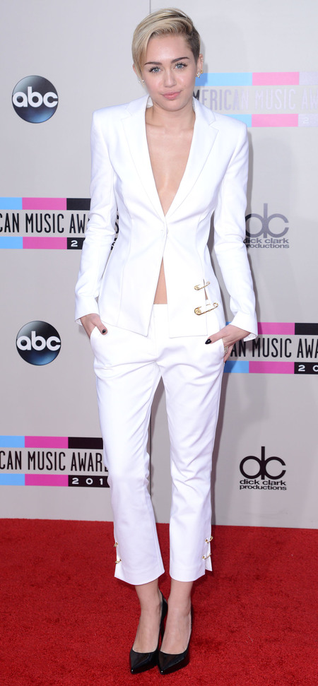 Masculine Fashion Trend Miley Cyrus