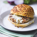 Lovely leftovers turkey gorgonzola burgers