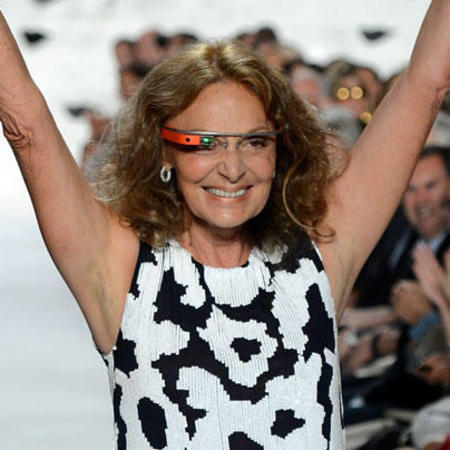 Celebrities wearing Google Glass