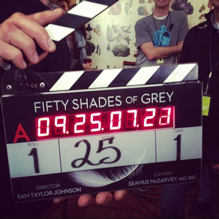 EL James action board Fifty Shades of Grey movie set - life news - sex news- handbagcom