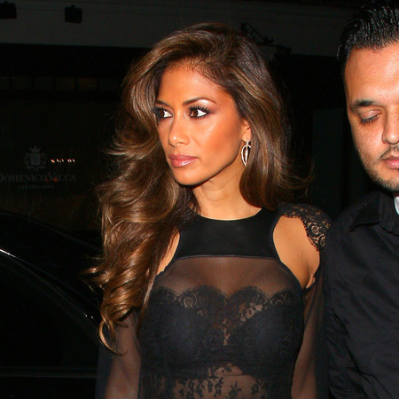 Nicole Scherzinger - sheer lace leather trend - x factor - style - sightings - handbag.com