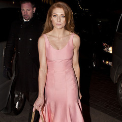 Nicola Roberts - cosmo awards - pink - matching bag and dress - handbag.com