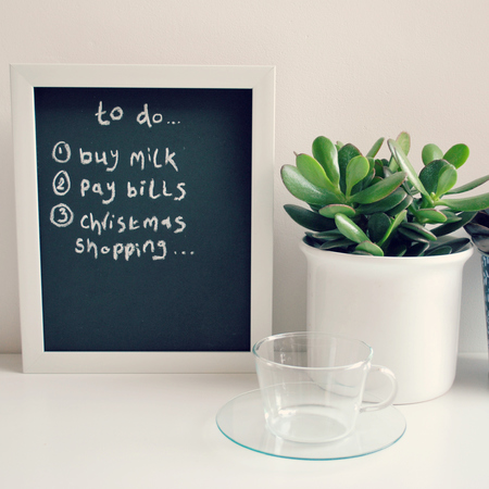 DIY Chalkboard organiser - caroline burke - finished image - craft project - handbag.com