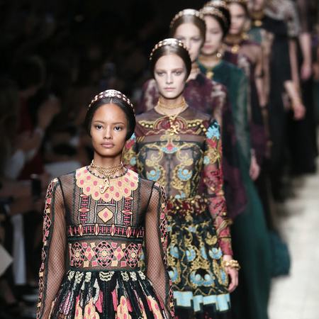malaika firth models in valentino ss14 fashion week show - new models for 2014 - british models - handbag.com