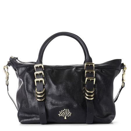 mulberry-black-mila-clipper-glossy-print-fearne cotton handbag - handbag.com