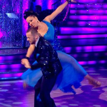 Natalie Gumede - favourite outfit - strictly come dancing - blue dress - handbag.com