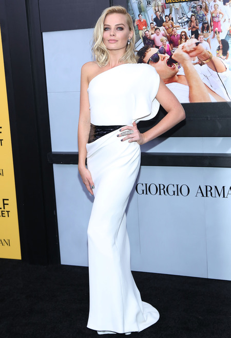 Margot Robbie in Armani Prive dress