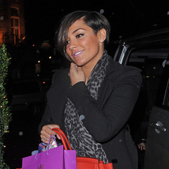 Frankie Sandford - red birkin bag - handbag - london sightings - nobu restaurant - smiling - handbag.com