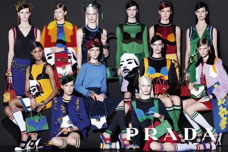 Prada SS14 Women's Ad Campaign - new season handbags - colourful bags - 2 - handbag.com