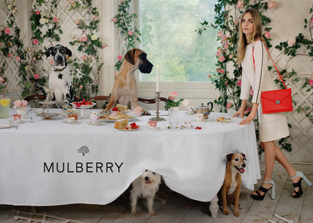 cara delevingne mulberry ss14 campaign - fiery red kensal shoulder bag - handbag.com