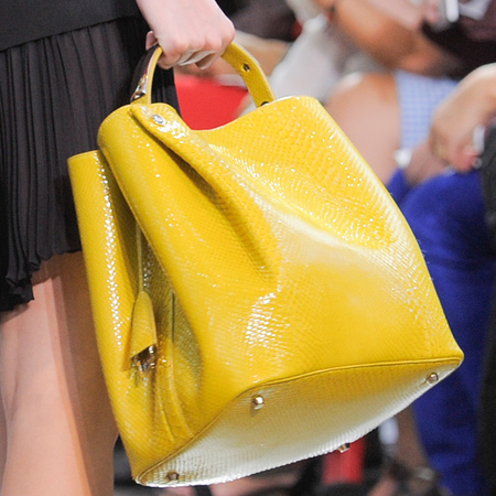 Dior diorific handbag for ss14 - best designer handbags for spring summer 2014 - yellow leather handbag - handbag.com