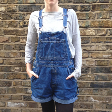 fashion fix - how to wear dungarees - how to sew a turn up hem - facing camera - hipster dungarees - handbag.com