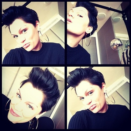 jessie j doing elvis quiff hairstyle - elvis presley birthday - short hair ideas - handbag.com