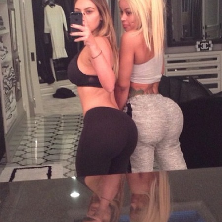 Kim Kardashian bum selfie - workout Instagram selfie - Kim Kardashian weight loss - diet and fitness - celebrity bodies - handbag.com