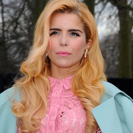 Paloma Faith's matte pink lips