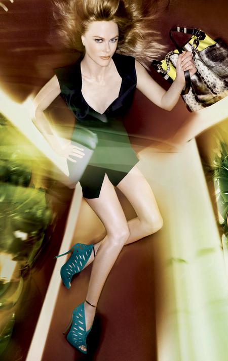 nicole kidman for jimmy choo spring summer 2014 campaign - new season handbag trends - black and yellow handbag - handbag.com