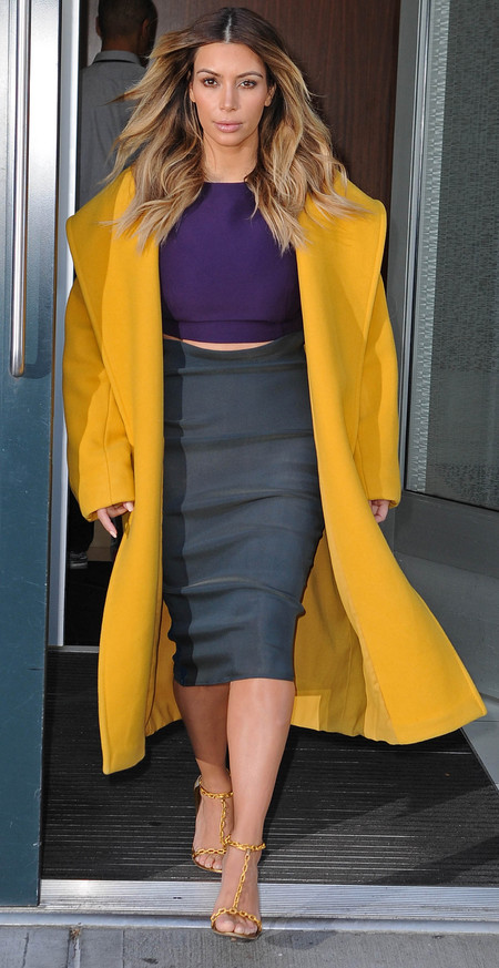 Kim Kardashian's crop top and bodycon skirt