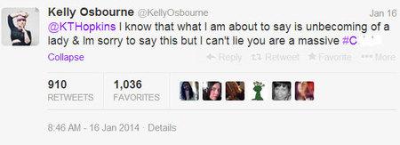 Kelly Osbourne Tweet to Katie Hopkins - argument on Twitter - life news - handbag.com