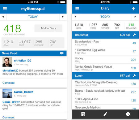 My Fitness Pal calorie and meal tracker - apps that won't lie to you - gadget news - handbagcom
