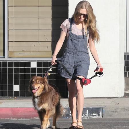 Amanda Seyfried - dungarees - dressing like children - 90s fashion trends - celebrities - handbag.com