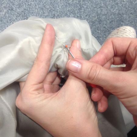 diy fashion fix - how to remove - take out - shoulder pads from a coat - unpicking seam - handbag.com