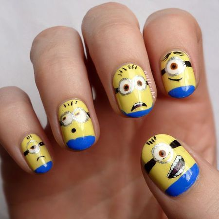 feel good nail art designs - to make you smile - despicable me nails - handbag.com